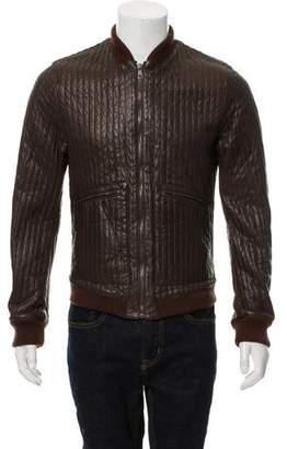 Dolce & Gabbana Quilted Lambskin-Blend Bomber Jacket