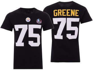 Majestic Men Joe Greene Pittsburgh Steelers Hall of Fame Eligible Receiver Triple Peak T-Shirt