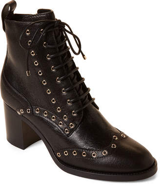 2a083d25fe07 Jimmy Choo Black   Gold Hanah Lace-Up Leather Booties