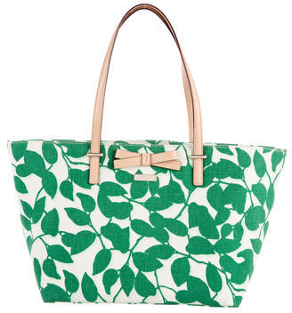 Kate Spade Kate Spade New York Bow-Embellished Printed Tote