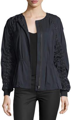 Neiman Marcus Kobi Halperin Maggie Zip-Front Jacket