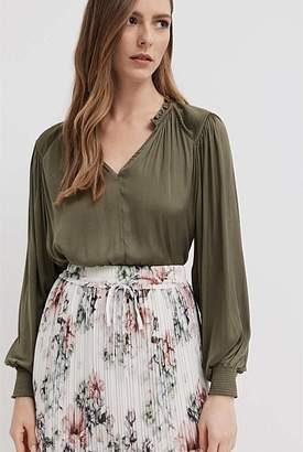 Witchery Pleated Shoulder Blouse