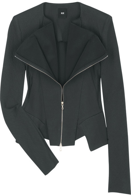 RM by Roland Mouret Zeus fold-over crepe jacket