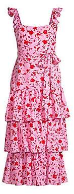 LIKELY Women's Charlotte Floral Tiered Sleeveless Dress