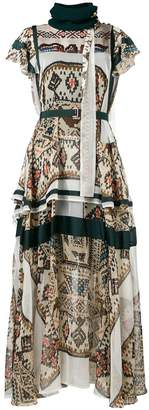 Sacai long printed dress