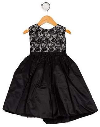 Joan Calabrese Girls' Silk Embroidered Dress