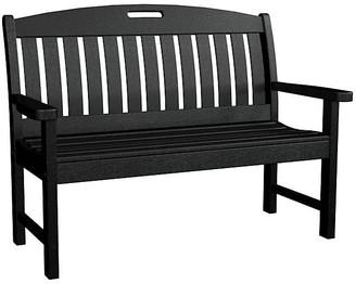 Polywood Nautical Bench - Black