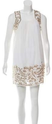 Calypso Embellished Shift Dress gold Embellished Shift Dress