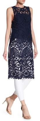 Alice + Olivia Kelissa Lace Side Slit Tunic with Camisole