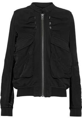 Haider Ackermann Satin-Paneled Cotton-Jersey Jacket