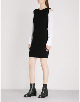 Mo&Co. Ribbed knitted dress