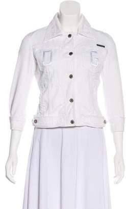 Dolce & Gabbana Three-Quarter Sleeve Denim Jacket