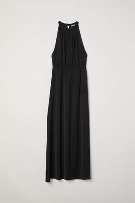 H&M Long Dress with Lace Back - Black