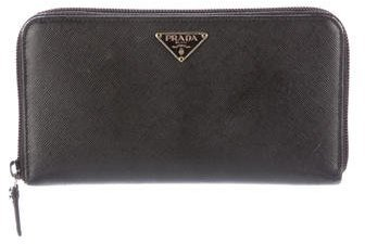 prada Prada Saffiano Zip-Around Wallet