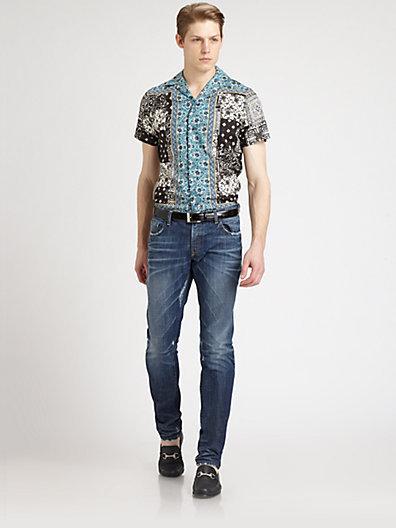 Dolce & Gabbana Riviera Scarf Print Sportshirt