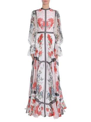 Alexander McQueen Long Silk Chiffon Dress