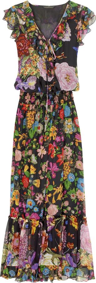 Single Floral print maxi dress