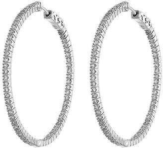 Kenneth Jay Lane CZ By CZ Inside-Out 50mm Hoop Earrings