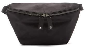 1006b3d338f Valentino Rockstud Camouflage Jacquard Nylon Belt Bag - Mens - Black