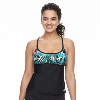 adidas Women's Painted Palms D-Cup Tankini Top