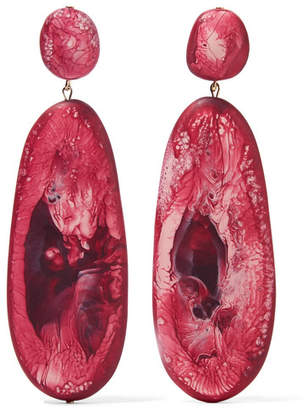 Dinosaur Designs River Stone Resin Earrings - Purple