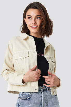 NA-KD Na Kd Beige Denim Jacket