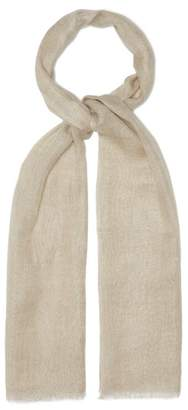From The Road - Atasa Narrow Striped Linen Scarf - Mens - White