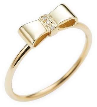 Sydney Evan Women's Gold Ribbon Ring