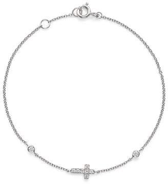Bloomingdale's Diamond Cross Bracelet in 14K White Gold, .12 ct. t.w.