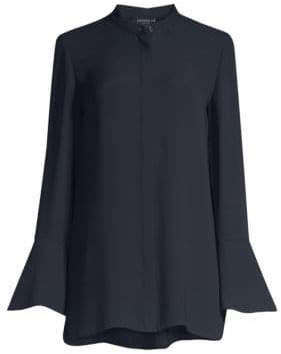 Lafayette 148 New York Marybeth Chiffon Bell Sleeve Blouse