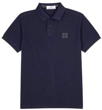 Stone Island Navy Piqué Cotton Polo Shirt
