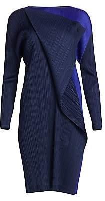Pleats Please Issey Miyake Women's Hidden Colors Long Sleeve Dress
