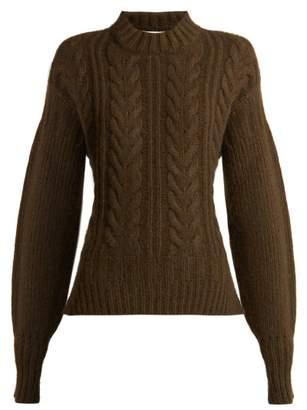 Cecilie Bahnsen - Sol Open Back Wool Blend Sweater - Womens - Khaki