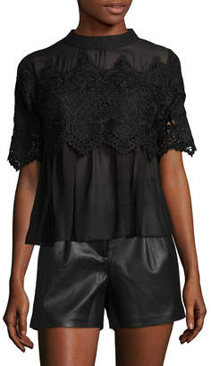 Allison Collection Lace Panel Top