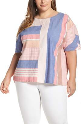 Caslon Bold Stripe Popover Top