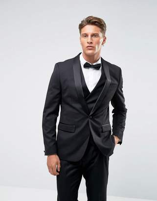 Farah Smart Skinny Tuxedo Suit Jacket