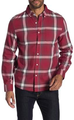 Saturdays NYC Crosby Tartan Ombre Button Up Shirt