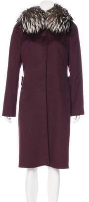 Dolce & Gabbana Fur-Trimmed Angora Coat