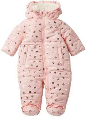 Jessica Simpson Foil Print Faux Fur Pram (Baby Girls)