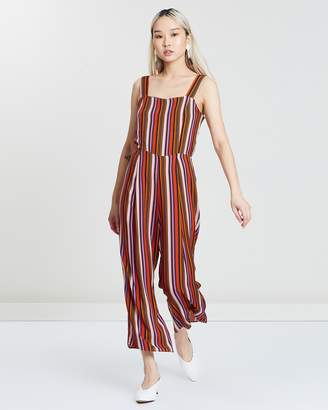 Miss Selfridge Striped Pinny Jumpsuit