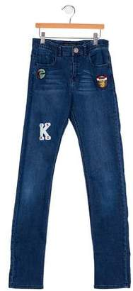 Ikks Girls' Appliqué Jeans