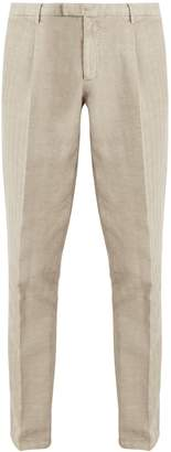 Boglioli Slim-leg cotton-blend herringbone trousers