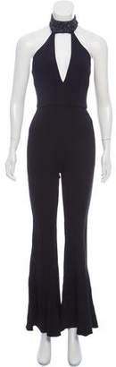 Cushnie et Ochs Embellished Flared Jumpsuit