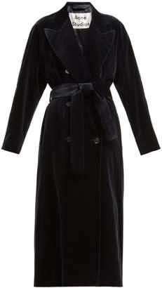 Acne Studios Double-breasted velvet robe coat