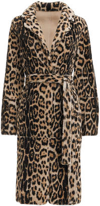 Yves Salomon Leopard Reversible Robe Coat