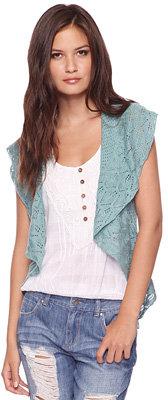 Forever 21 Pointelle Knit Vest