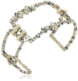 Alexis Bittar Amazon Collection Crystal Encrusted Oversize Link Cuff Bracelet