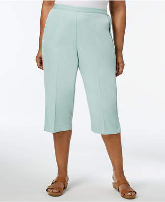 Alfred Dunner Daydream Plus Size Pull-On Capri Pants