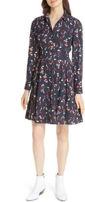 Kate Spade foxes smocked shirtdress
