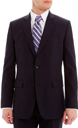 STAFFORD Stafford Executive Super 130 Navy Pinstripe Suit Jacket - Classic